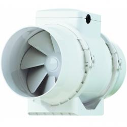 Ventilator axial de tubulatura diam 125mm, cu 2 viteze, 220/280mc/h, cu timer - Ventilatie industriala ventilatoare in linie