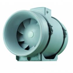 Ventilator axial de tubulatura diam 100mm, cu 2 viteze, 145/187mc/h - Ventilatie industriala ventilatoare in linie