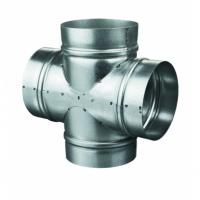 Piesa cruce diam 125 - Accesorii ventilatie tubulatura tabla zincata si piese metalice