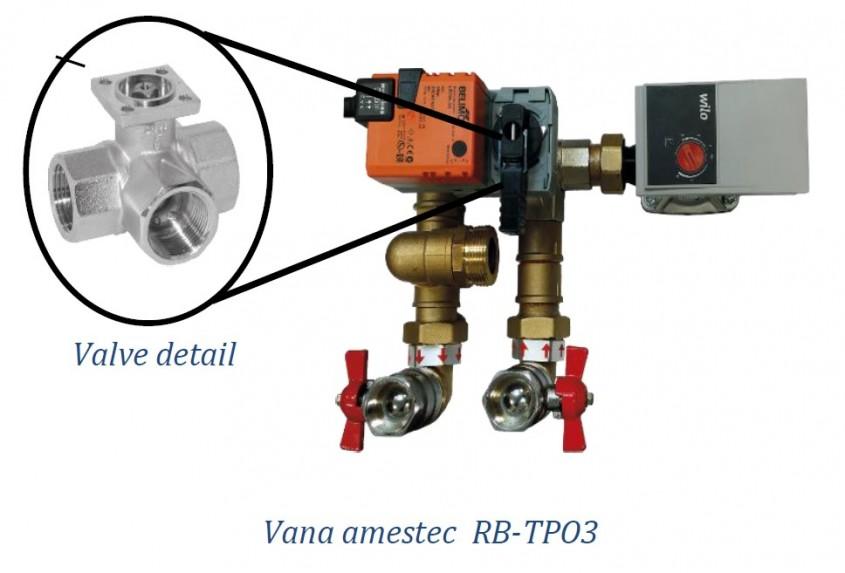 Vana de amestec RB-TPO3 E - Activarea functionarii ventilatoarelor - functie noua inclusa in unitatile cu