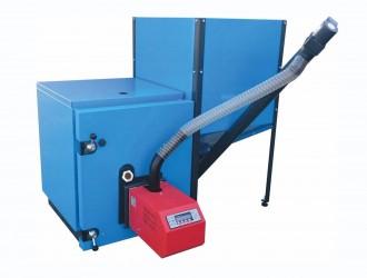 Cazan cu arzator automat pe pellet PLC - Cazane pe combustibil solid, peleti