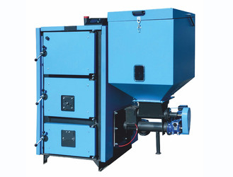 Cazan cu functionare pe pellet-biomasa si lemne MCL BIO - Cazane pe combustibil solid, peleti