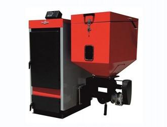 Cazan din otel cu functionare automata pe biomasa ECOBIO - Cazane pe combustibil solid, peleti