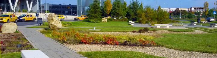 Sediul Petrom - amenajare parc - Proiecte RULOURI DE GAZON