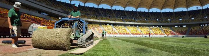 Amenajare gazon pe Arena Nationala - Proiecte RULOURI DE GAZON