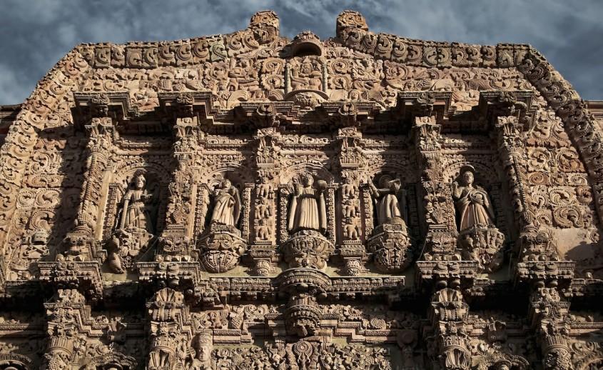 Catedrala din Zacatecas, Mexic - detaliu - Lectia de arhitectura - emblemele stilului baroc