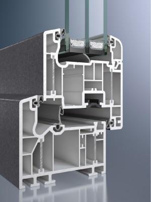 Profil din PVC pentru fereastra Corona Alu Inside  - Sistem de fereastra Corona Alu Inside