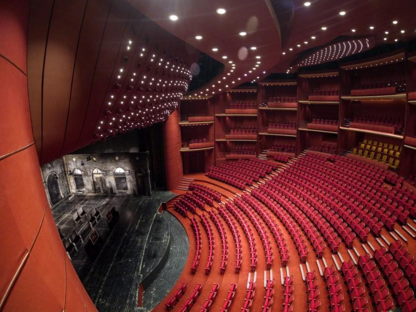 Sala Mare - Desfumare cu motoare SIMON RWA la Teatrul National
