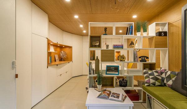 Reconversie garaj - amenajare birou arhitectura Arhi Dot Design - Premiile Bienalei Nationale de Arhitectura editia