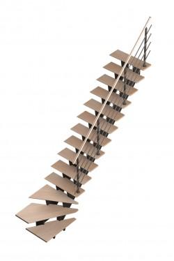 Scara pe structura metalica - Biax - Gama de scari CONTEMPORANE
