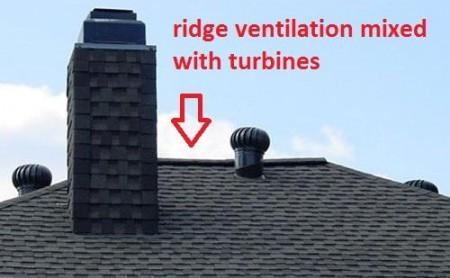 Păstraţi doar piesele de ventilare de coamă - Cele mai frecvente greşeli făcute de montatori de acoperişuri - partea a 3-a