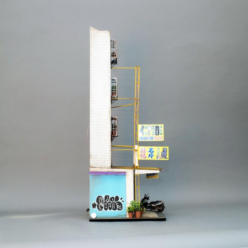 Magazinul unui lacatus din Kaohsiung Taiwan - Miniaturi hiperrealiste ale aspectelor urbane ce redau și cele