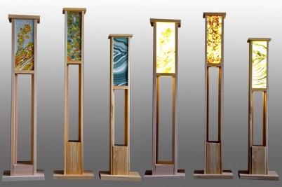 Lampi cu sticla pictata - Produse Cramar Design