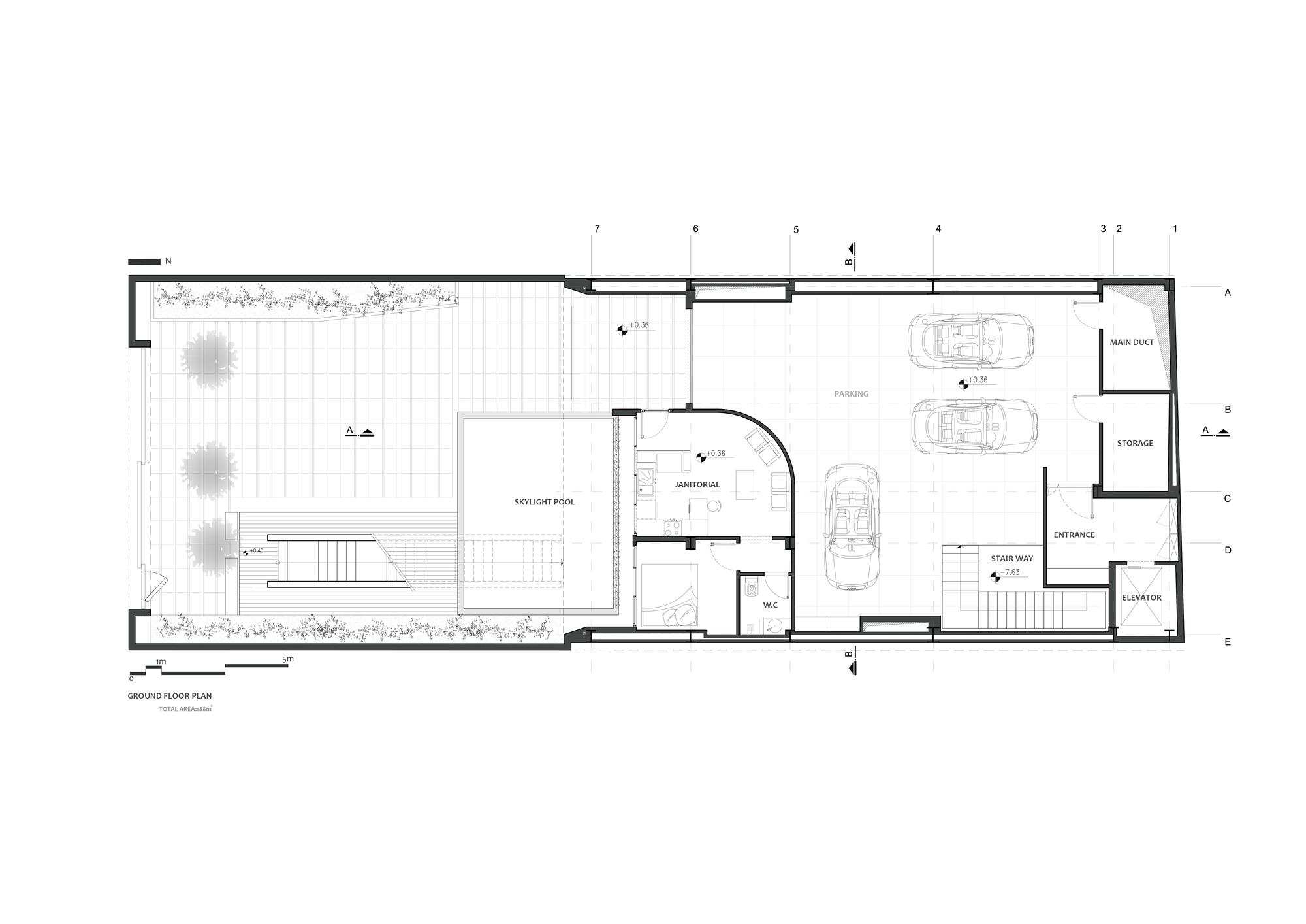 Casa Sharifi - Locuinta cu camere mobile - schite