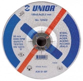 Discuri de taiere cu gaura micsorata, pentru otel 1202/2 - Accesorii polizoare de banc si unghiulare Unior