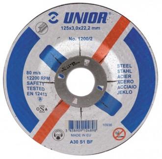 Discuri de taiere cu gaura micsorata, pentru otel 1200/2 - Accesorii polizoare de banc si unghiulare Unior