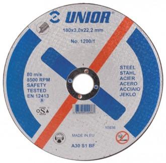 Discuri de taiere pentru otel 1200/1 - Accesorii polizoare de banc si unghiulare Unior