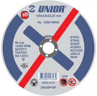 Discuri pentru inox 1200/1INOX - Accesorii polizoare de banc si unghiulare Unior