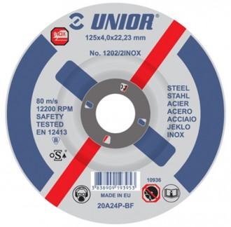 Discuri de taiere pentru otel inoxidabil 1202/2INOX - Accesorii polizoare de banc si unghiulare Unior