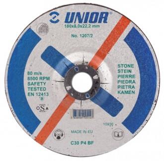 Discuri de taiere cu gaura micsorata, pentru piatra 1207/2 - Accesorii polizoare de banc si unghiulare Unior