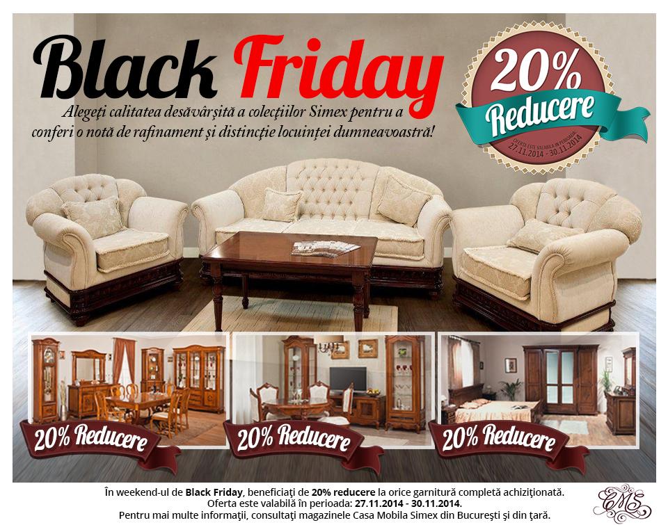 Reduceri masive de Black Friday la Casa Mobila Simex - Reduceri Masive de Black Friday la