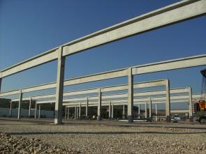 Complex comercial Deva (Real, Practiker, Metro) - Structuri hale prefabricate din beton