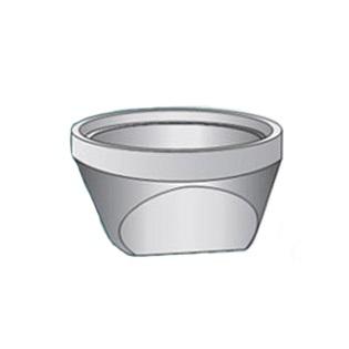 Element de baza (radier) guri-canal cu cep si buza din beton simplu cu diametrul de 450mm - Elemente gura-canal din beton