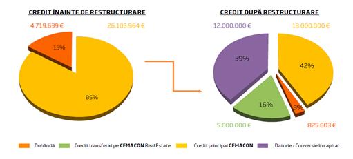 Credit inainte/dupa restructurare - Cemacon a obtinut o crestere a profitului operational