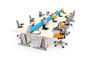 Ansamblu 8 birouri val cu 4 panouri despartitoare-SYSBRV16 P160 - Solutii complete executive - program SYSTEM