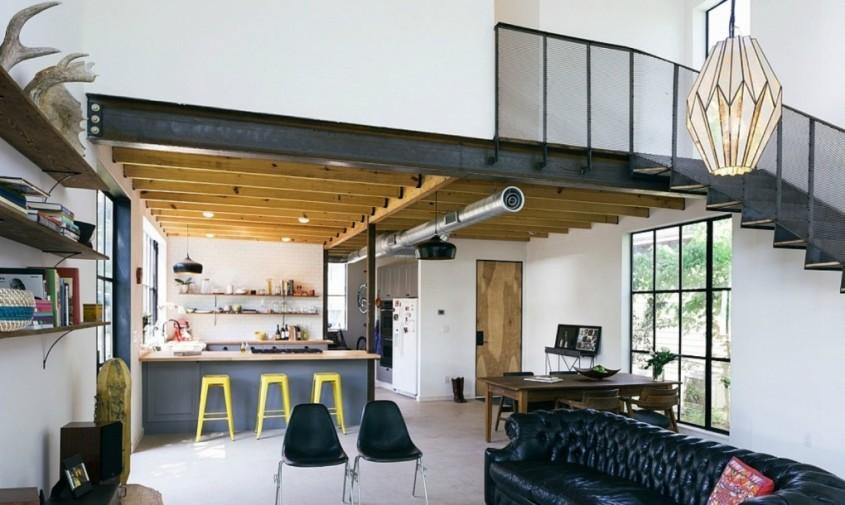 Pavonetti-Architecture-Garden-State-Home-1020x610 - Casa in Texas al carei volum aminteste de hambarele traditionale
