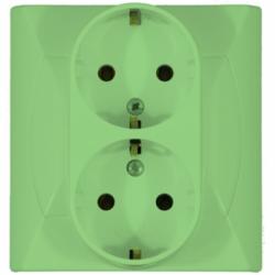 Priza dubla schuko vernil - Aparataj electric akcent