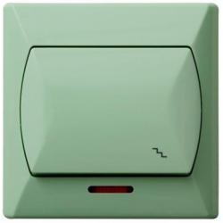 Intrerupator cap scara iluminat vernil - Aparataj electric akcent