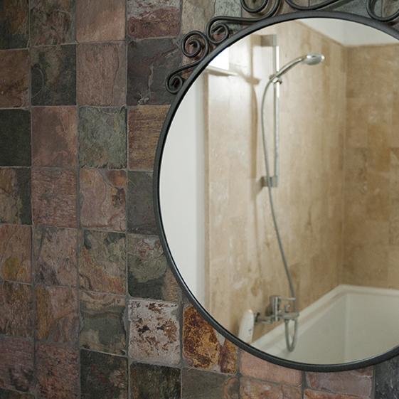 Ardezie Multicolora Tumbled (Antichizata) 10x10cm - Amenajari interioare: beneficiile pietrei naturale