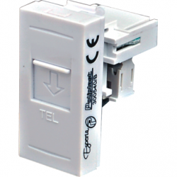 Priza telefon RJ11, alb - Aparataj electric esperia