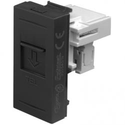 Priza telefon RJ11, negru - Aparataj electric esperia