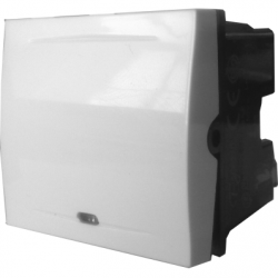 Intrerupator iluminat clapa 2 module, 16A, alb - Aparataj electric esperia