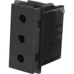 Priza simpla 2P+T, 16A, negru - Aparataj electric esperia