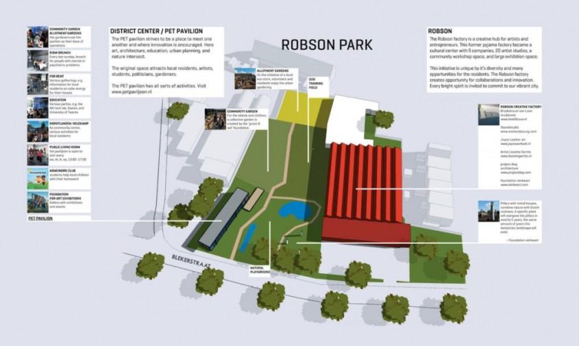 Pavilionul PET - Pavilion în care deșeurile reciclabile sunt la vedere