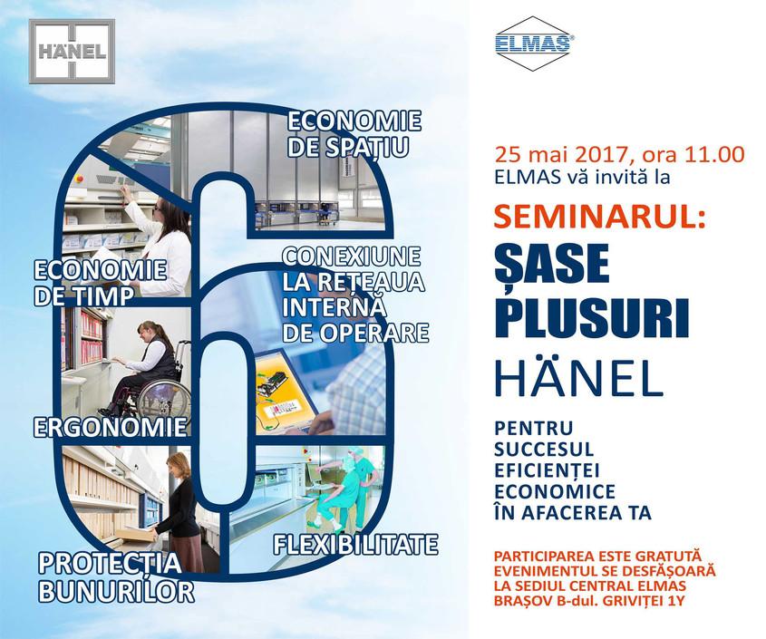 """seminar_elmas - Elmas va invita la seminarul """"SASE PLUSURI HÄNEL"""""""