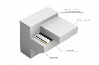 Suporti glisanti elastomerici tip Neg - Suporţi de amortizare a sunetului tip SD