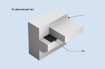 Suport elastomeric nearmat N 15/N 20 - Suporţi de amortizare a sunetului tip SD