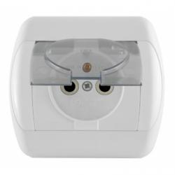 ALB Priza schuko cu capac de protectie transparent - Aparataj electric royal