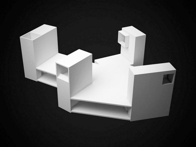 Plan 3D - Turnuri Four Eyes House