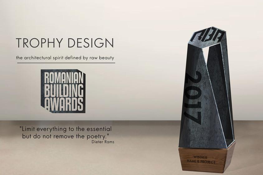 randare trofeu RBA - A fost desemnat proiectul câștigător al concursului Romanian Building Awards Trophy