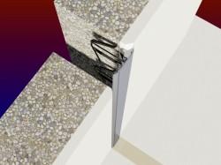 Profil de dilatatie pentru pereti Hidroplasto 23/W+B - Profile dilatatie pentru perete si tavane
