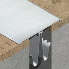 Profil de dilatatie autoadeziv pentru pardoseala din eloxALUM20, 80 mm latime - GOA803 - Profile de dilatatie metalice