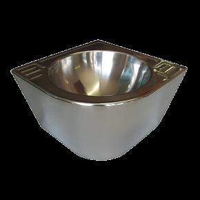 Lavoar de colt din otel inox - SLUN 41MS - Lavoare si spalatoare din otel inox