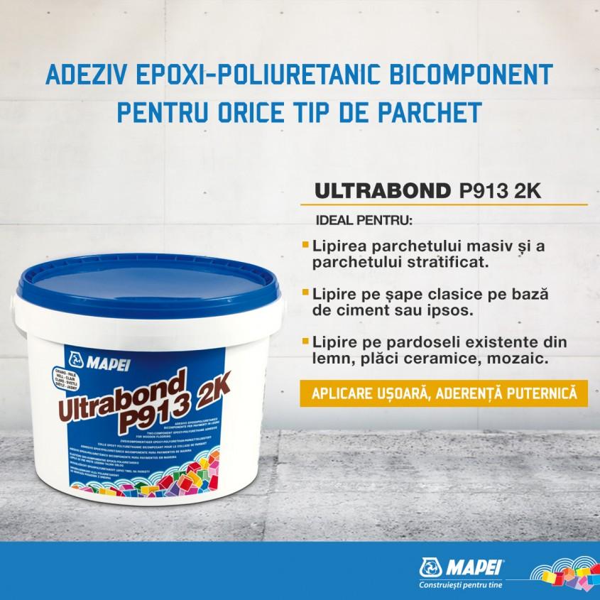 Ultrabond P913 2K de la Mapei - adeziv epoxi-poliuretanic bicomponent pentru pardoseli din lemn - Ultrabond