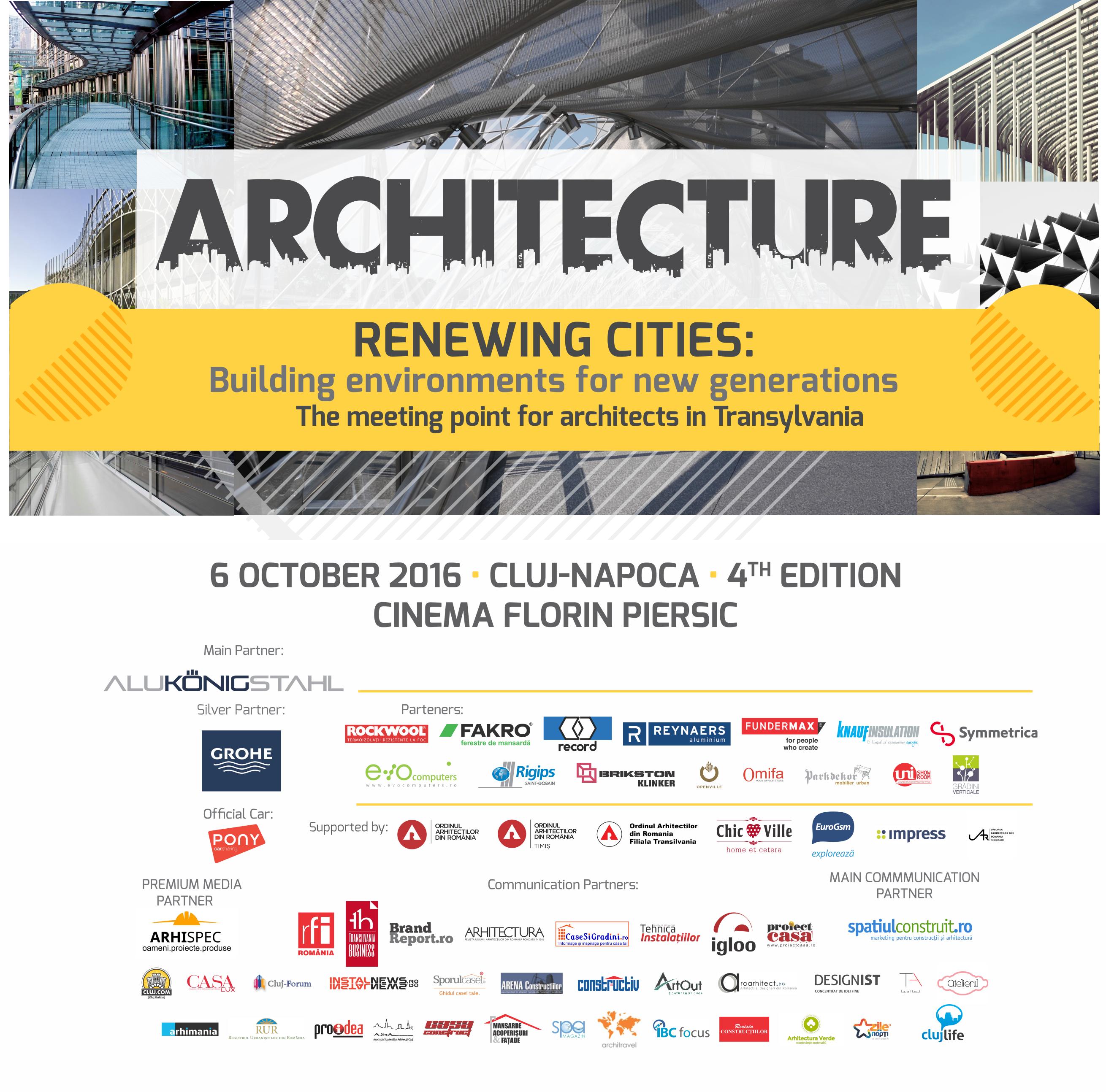 Provocarile in dezvoltarea oraselor - subiect dezbatut la Cluj-Napoca de peste 300 arhitecti - Provocarile in