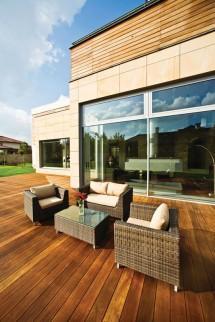 Pardoseala din lemn pentru exterior sub forma de lamele - Cumaru - Pardoseala din lemn pentru exterior sub forma de lamele